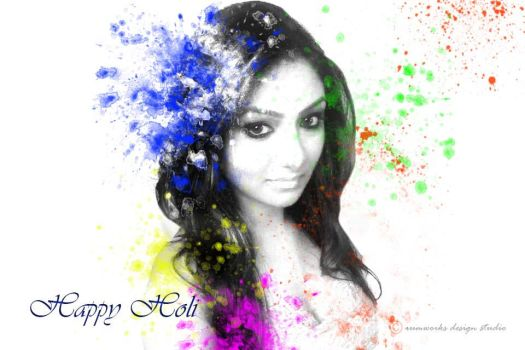 HAPPY HOLI... TO KHUSHI MUKHERJEE by pochabhai
