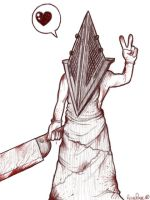 Pyramid Head from Silent Hill by wytwolf