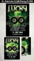 St. Patricks Club Party flyer by Hotpindesigns