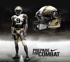 New Orleans Saints Away by DrunkenMoonkey