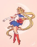 Twirling Sailor Moon by Gregory-Misner