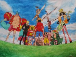 One Piece Sailing Again by MickaVZane