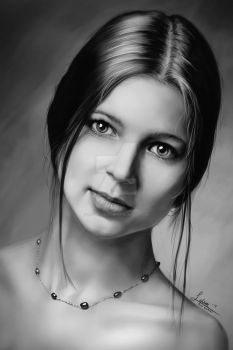 Detailed Portrait study No.1(Speed painting+tips) by rainwalker007