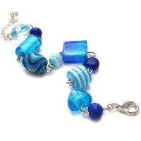 Blue Link Charm Bracelet 2 by fairy-cakes