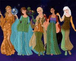 Personifications of Five of the Planets by katrinahood