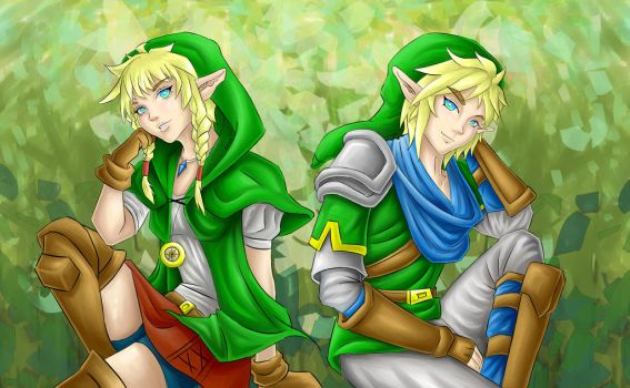 Linkle and Link by Mimibert