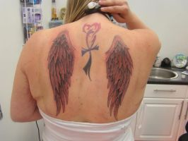 wing tattoo by scotty-p-32