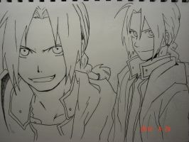 Edward Elric (lineart) by YuuChann44