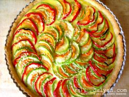 Vegetable Quiche - I by Julyendiary