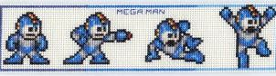Megaman Cross Stitch Bookmark by Krissay20