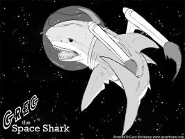 Greg the Space Shark by GaryStorkamp