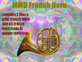 MMD french horn by bawicho