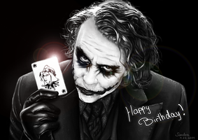 Joker Portrait - Birthday present by Sadako-xD