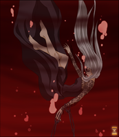 Drowning in a Sea of Blood by Golden-Hourglass