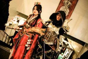 wizard and Demon hunter by WildRoseWorkshop