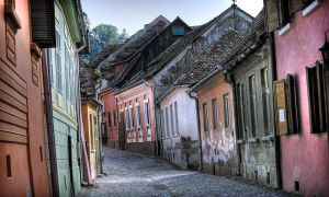a street in Sighisoara by luccyk