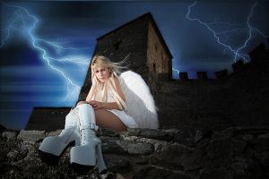 Among two storms by Tanit-Isis