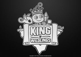 King of Wildlings Cartoon Logo (Black and White) by TrexycaArtworks