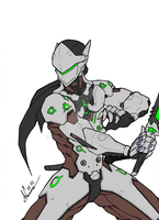 Genji - Overwatch by Abylaikhan