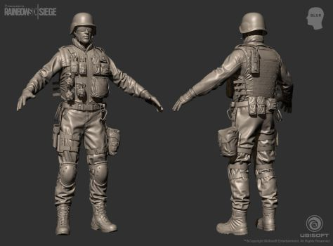 Rainbow Six Siege Cinematic SWAT - ZBrush by mabdelfatah