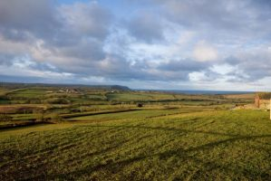 Morning lit fields, Cornwall by hairycheesecake