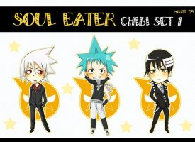 SoulEater_chibi_set1 by NiKitt-twin