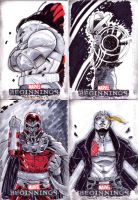 MARVEL BEGINNINGS3 SKETCH CARDS 4 by CRISTIAN-SANTOS