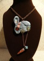 Pendant Steampunk Rabbit 0A by clemcrea