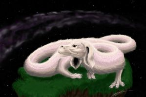 Falcor, the Luck Dragon by BahamutDeusModus