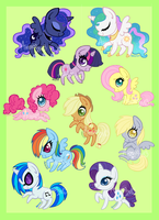 All the little Ponies by Amenoo