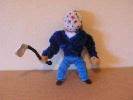 Jason with axe by fuzzyfigureguy