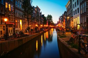 Canal in Amsterdam by torachirila