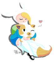 Friends Like Fionna and Cake by Asikku