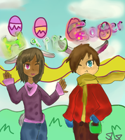 commission: MERRY EASTER everyone! by pyriki