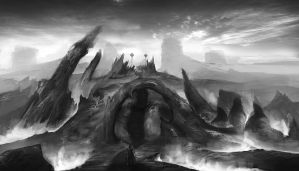 ConceptArt landscape01 by Dimmiart
