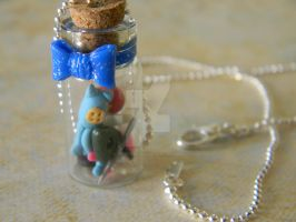 Coraline Bottle Necklace-Polymer Clay-Movie by ThePetiteShop