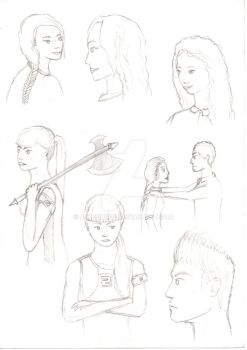 More Tributes Sketches by JPkeeper22