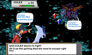 Gold Vs Culex Sprite Comic by DarkraDx