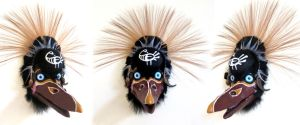Sankofa Crane Mask by MonicaMcClain