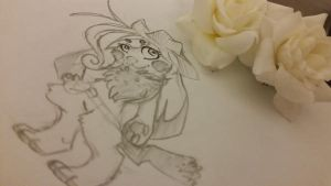 Pencils and Roses. by cornaii