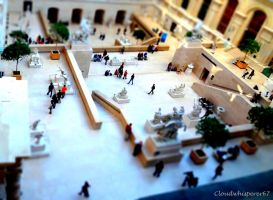 Le Louvre Miniature - Tiltshift Effect - 3/4 View by Cloudwhisperer67