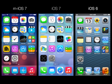 How iOS 7 Home Screen should look like by ajozsef