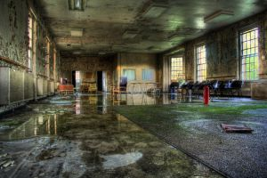 Decaying Asylum Day Room by tonemapped