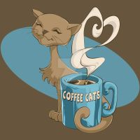 Coffee Cats by Kimballgray