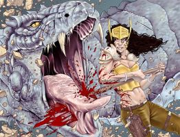 War Goddess 6 wraparound cover by MDiPascale