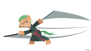 Roronoa (Pony) Zoro by Oliminor