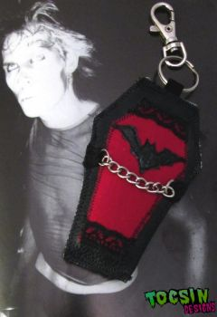 GOTHIC COFFIN BAG CHARM / PENDANT by TocsinDesigns
