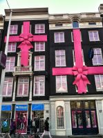 Amsterdam pink bows house by sheik08