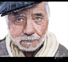 Old man Digital Painting by Xavio-Design