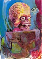 mars attacks sketch card 2 by charles-hall